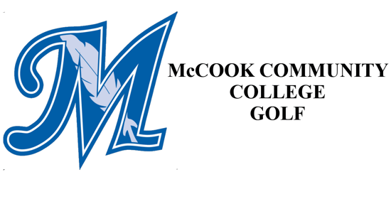 McCook Community College Logo on the left with the words McCook community college golf on the right.